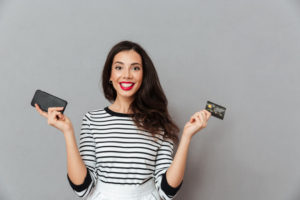 Girl with credit card